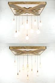 modern wood chandelier image 0 modern wood metal light chandelier pendant
