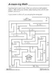 Labyrinth Puzzle Math Education Maze Or Labyrinth Game For Preschool