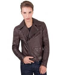 chiodo biker brown perfecto lamb belted leather biker jacket
