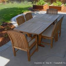 rectangular outdoor dining table lovable outdoor patio dining set agean table zaire chair teak and chairs