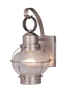 vaxcel ow21861bn ham nautical brushed nickel finish 12 nbsp tall exterior wall sconce lighting loading zoom