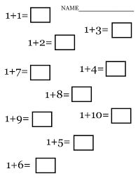 Worksheets For Kindergarten Math One More Exceptional Easy ...