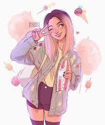 itslopez | Cute drawings, Girl drawing, Girl cartoon