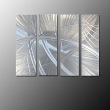 brushed stainless steel wall art