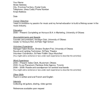 Sample Resumes For High School Students Resume Templates For Students In High School Fred Resumes 13