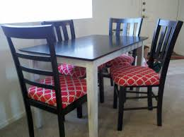 image of red dining room chair pads