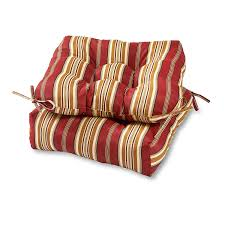 com greendale home fashions 20 inch outdoor chair cushion set of 2 roma stripe home kitchen