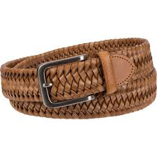 tommy bahama men s leather stretch braid belt