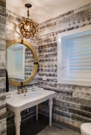 powder room lighting. Powder Room Utilizing The Existing Fixtures. New Light Fixtures Offer A More Trendy And Updated Look, Bringing Restoration To Space. Lighting