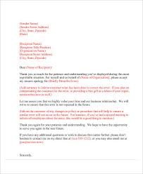 Customer Apology Letter Examples Apology Letter Examples 52