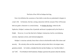 essay on fate in oedipus the king oedipus the king fate essay bartleby