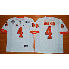 Jersey Playoff 2016 1975-1978 Patch Ncaa Fuller Stitched White Championship Deshaun Football Tigers Watson National College 4