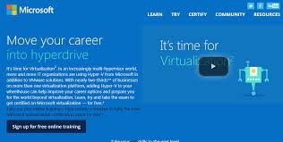Microsoft Free Certification Free Microsoft Virtualization Certification Training Is Available