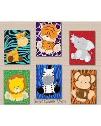 baby zoo animals nursery. Plain Nursery Safari Nursery DcorJungle Animals Wall ArtZoo  Art With Baby Zoo C