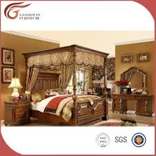 solid wood bedroom furniture sets. Luxury Royal Solid Wood Bedroom Furniture Set, King Canopy Sets A10