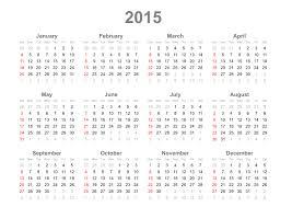 Clipart 2015 Calendar
