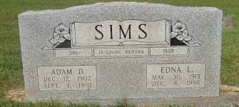 SIMS, ADAM D. - Izard County, Arkansas | ADAM D. SIMS - Arkansas Gravestone  Photos