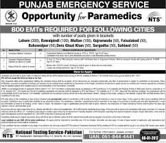 rescue punjab emergency services nts jobs application punjab emergency services rescue 1122 nts jobs 2017 application forms eligibility criteria last date