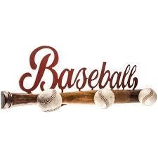 baseball bat wall decor with knobs