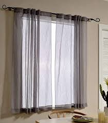 curtains for office. Mysky Home Back Tab And Rod Pocket Window Crushed Voile Sheer Curtains For  Office Room, Curtains Office O