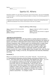 athens vs sparta dbq sparta ancient