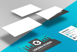 Free Floating Business Card Mockup 5 Scenes Psd