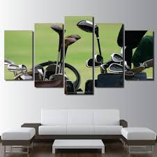 golf clubs canvas wall art paintings