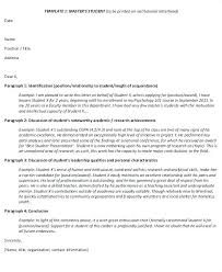 Template Of Letter Of Recommendation Sharpbit Me