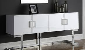 white laquer furniture. Meridian Furniture Beth Modern White Lacquer Chrome Steel Buffet/Console  Table White Laquer Furniture