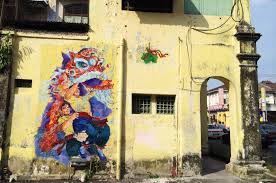 lion dance and drumming wall murals  on wall mural artist singapore with ipoh street art wall paintings murals malaysia singapore