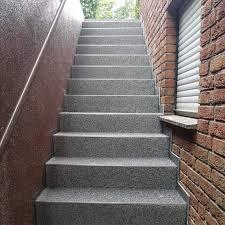 Am besten machen sie sich vorher eine checkliste. Treppenrenovierung Mit Steinteppich Im Aussenbereich Homify