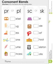 Phonics worksheets and online activities. Consonant Blends Missing Letter Worksheet For Education Download From Over 65 Million High Blends Worksheets Consonant Blends Worksheets Consonant Blends