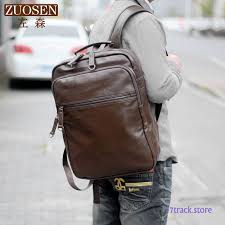 backpack men leisure travel bag trend student leather laptop bag