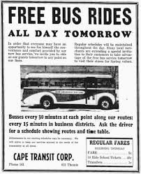 i wasn t around in 1941 when three brand new general motors city buses rolled onto the streets of cape girardeau but i ll be residents were thrilled with