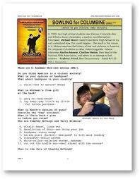 movies grow english esl movie lesson bowling for columbine  focus on gun culture fear culture