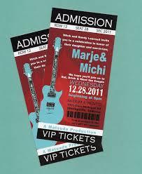concert ticket invitation template com concert ticket template
