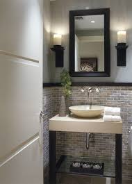 Powder Room Design Ideas I Like The Sink Faucet Lower Wall Treatment And The The Decor Piece Below