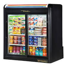 true gdm 09 ld 36 2 slide glass door countertop refrigerated merchandiser