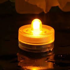 Battery Operated Amber Led Lights Battery Operated Submersible Led Tea Light By Festive Lights