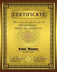 diploma certificate vector golden diploma certificate vector