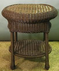 wicker end tables antique for round outdoor table p