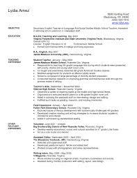 Teacher Resumemplate For Word Cv Elementary Resume Template