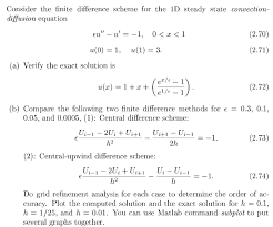consider the finite difference scheme