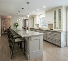 peninsula lighting. peninsula with countertop overhang kitchen transitional gray cabinets espresso media and chests lighting