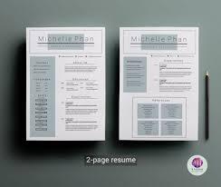 Minimalist Resumelate Ruby Watson Bestresumes Two Page Free Download