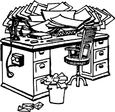 messy desk clipart.  Messy Cluttered Desk Clipart 1 With Messy WorldArtsMe