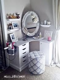 furniture engaging corner makeup vanity ideas 4 best 25 on table with storage corner makeup