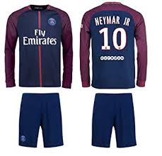 Shorts Ball And ys 10 Paris Soccer Youth Canada Sizes Jersey Years Sleeve Bag Neymar Long Jerseys Amazon - 6-8 Psg