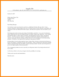 Sample Cover Letter For School Epic Sample Cover Letter For