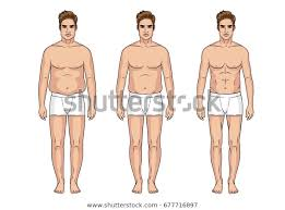 Stages Weight Loss Men Male Transformation Stock Vector